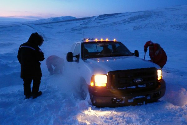 Digging Out in the Arctic